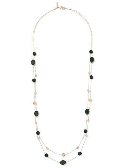 Double-Row Faceted Bead Necklace  - New York & Company