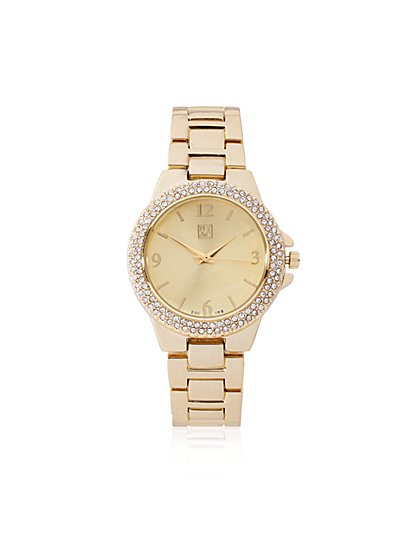 Double-Row Pavé Watch  - New York & Company