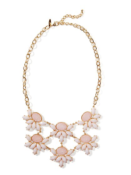 Double-Strand Floral Bib Necklace