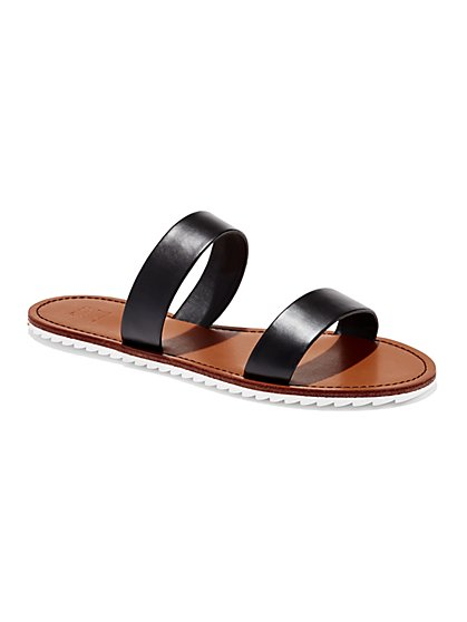 Double-Strap Flat Sandal  - New York & Company