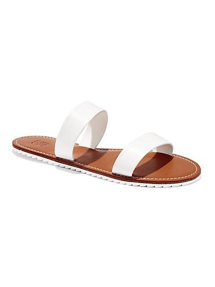 Double-Strap Flat Sandal  - New York & Company