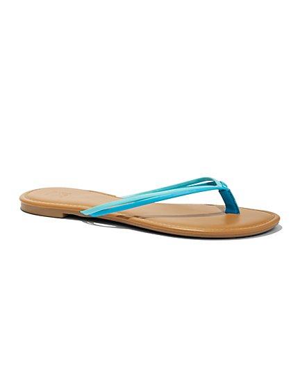 Double-Strap Flip-Flop Sandal   - New York & Company