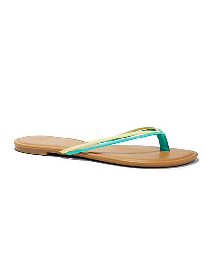 Double-Strap Flip-Flop Sandal   - New York & Company