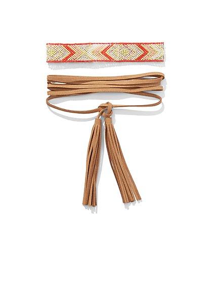 Double-Tassel Choker Necklace  - New York & Company
