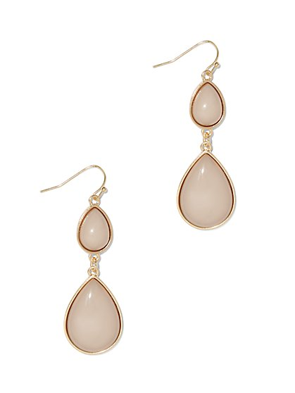 Double-Teardrop Goldtone Earring  - New York & Company