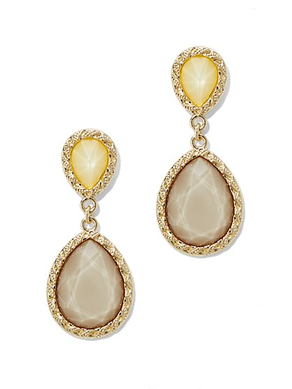 Double-Teardrop Post Earring  - New York & Company