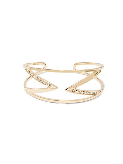 Double-V Pave Cuff  - New York & Company