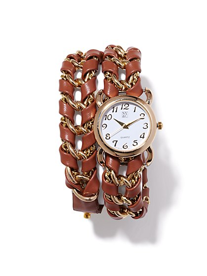 Double-Wrap Braided Watch