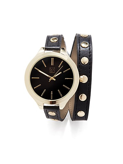 Double-Wrap Studded Watch