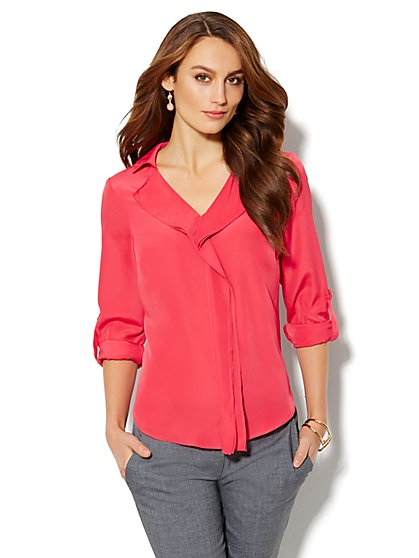 Drape-Front Blouse - New York & Company