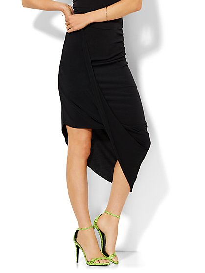 Draped Asymmetrical Skirt  - New York & Company
