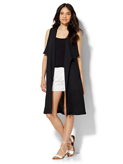 Draped Flyaway Duster  - New York & Company