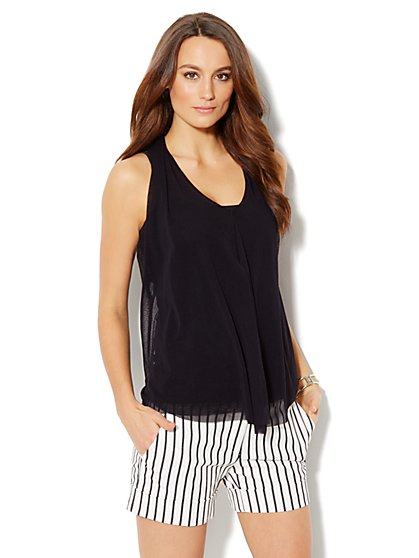 Draped Mesh Halter Top