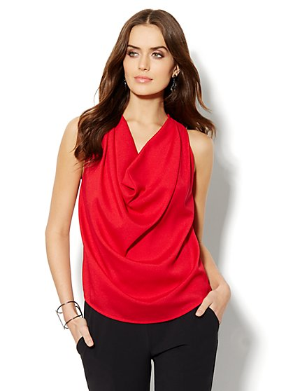 Draped-Neck Shell  - New York & Company