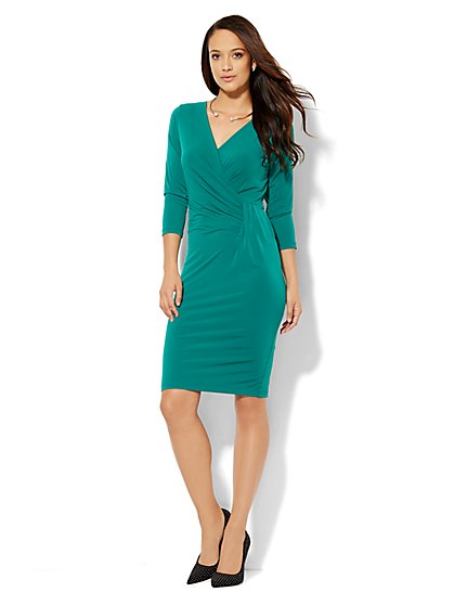 Draped Wrap Dress  - New York & Company