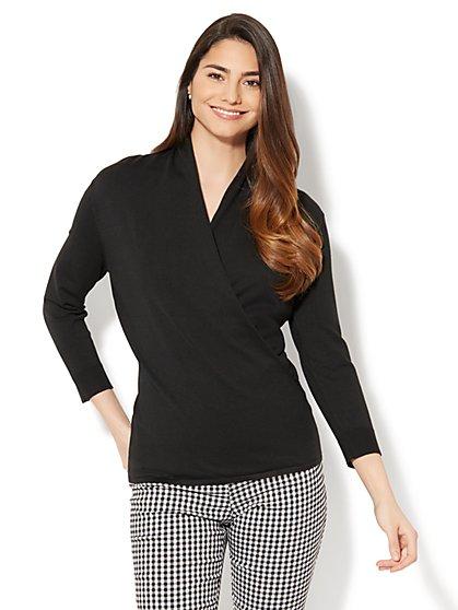 Draped Wrap Sweater  - New York & Company