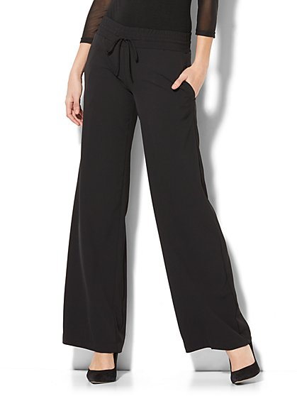 Drawstring Wide-Leg Pant - New York & Company
