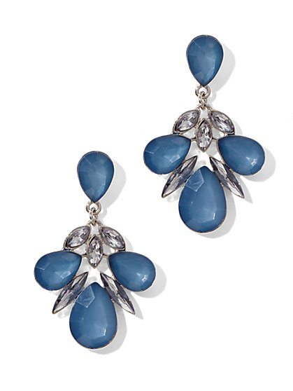 Drop Earrings With Faceted Stones  - New York & Company