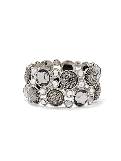 Druzy Medallion Stretch Bracelet  - New York & Company