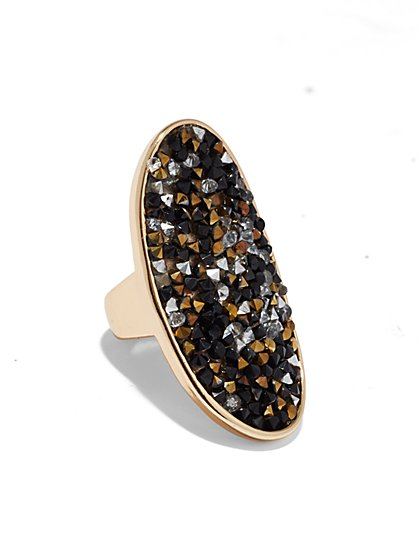 Druzy Shield Ring  - New York & Company