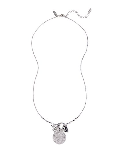 Elephant Charm Pendant Necklace  - New York & Company