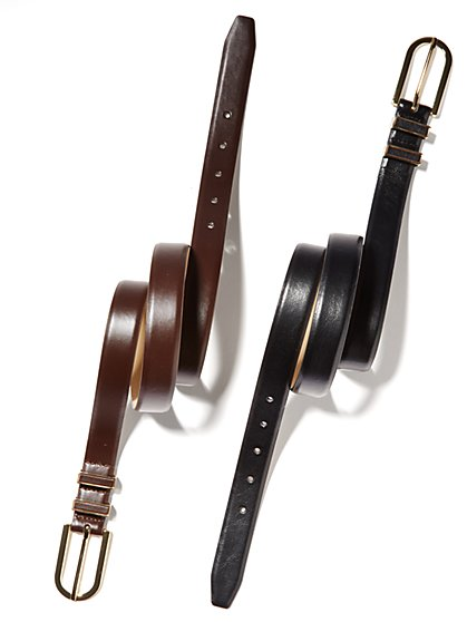 Elongated-Buckle Belt