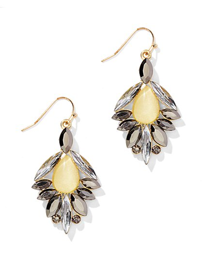 Embellished Beaded Teardrop Earring - New York & Company