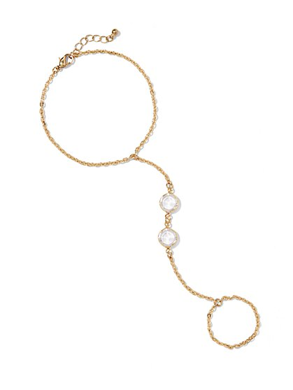 Embellished Hand-Chain Bracelet  - New York & Company