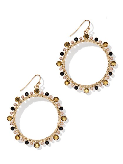 Embellished Hoop Earring - New York & Company