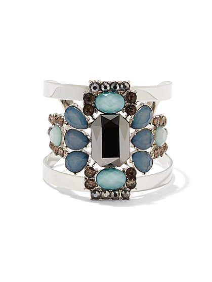 Embellished Open Cuff Bracelet  - New York & Company