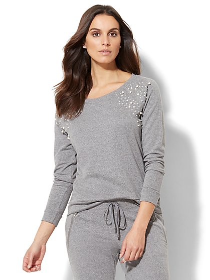 Embellished Sweatshirt - New York & Company