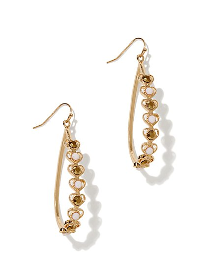 Embellished Teardrop Earring - New York & Company