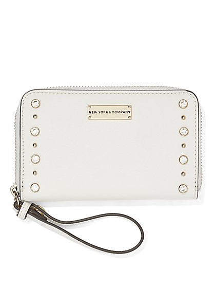 Embellished Zip-Around Wallet  - New York & Company
