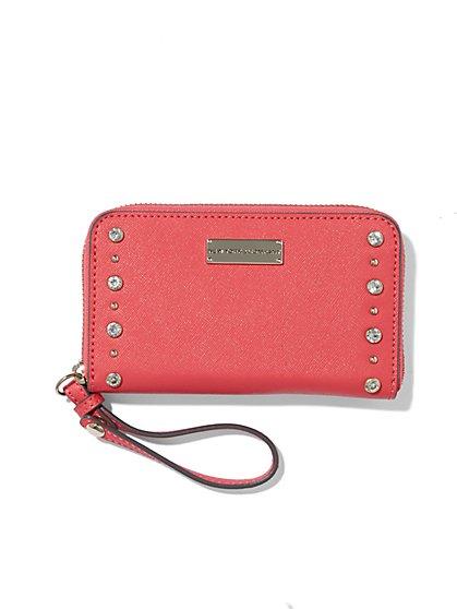 Embellished Zip-Around Wallet  - New York & Company