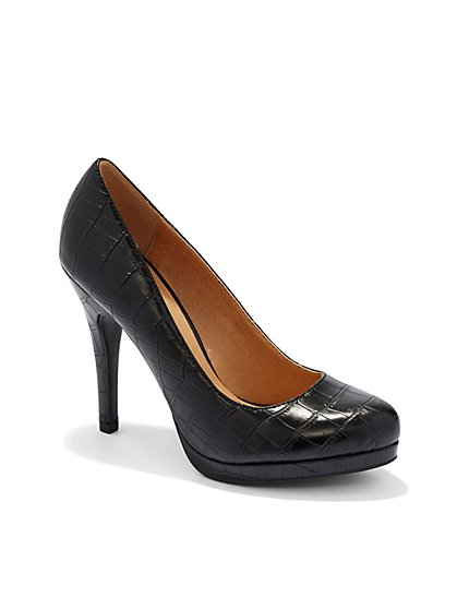 Embossed Platform Pump  - New York & Company