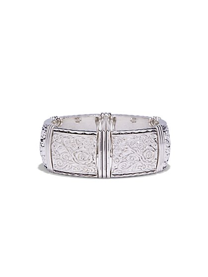 Embossed Stretch Cuff Bracelet  - New York & Company