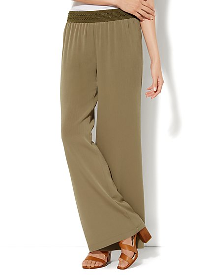Embroidered Palazzo Pant  - New York & Company