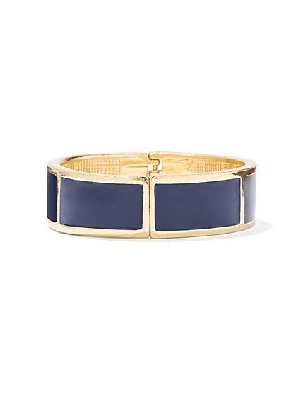 Enamel-Accent Goldtone Cuff Bracelet  - New York & Company
