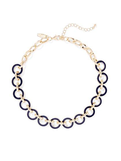 Enamel Circle Necklace  - New York & Company