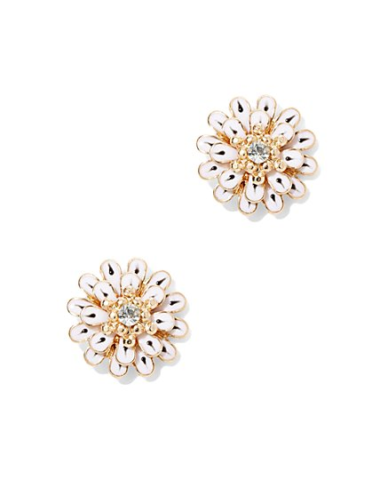 Enamel Flower Earring  - New York & Company