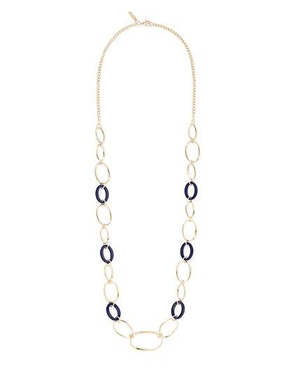 Enamel & Goldtone Chain-Link Necklace  - New York & Company
