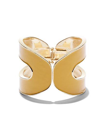 Enamel Goldtone Hinge Bracelet  - New York & Company