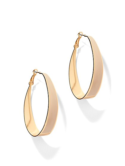 Enamel Hoop Earring  - New York & Company