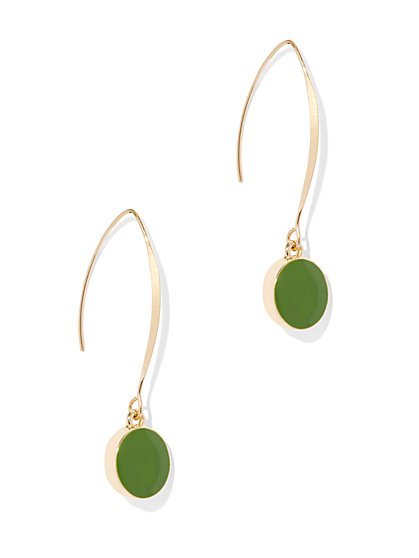 Enamel Linear Drop Earring  - New York & Company