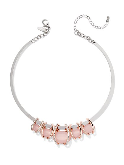 Encased Faux-Stone Collar Necklace  - New York & Company