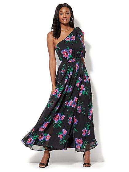 Enchant One-Shoulder Maxi Dress - New York & Company