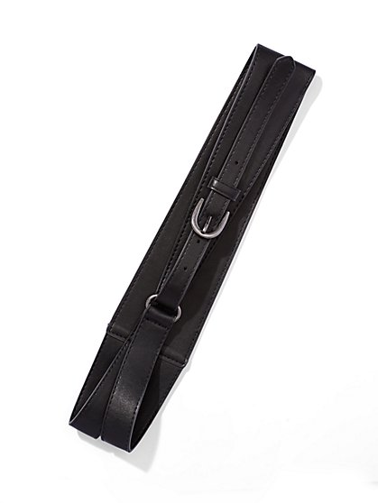 Equestrian Faux-Leather Belt  - New York & Company