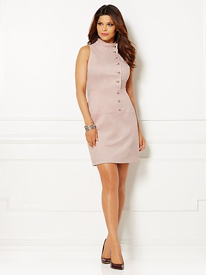 Eva Mendes Collection - Abbey Faux-Suede Dress  - New York & Company