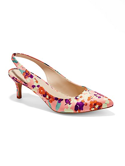 Eva Mendes Collection - Alexandria Floral Slingback - New York & Company