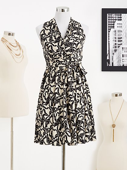 Eva Mendes Collection - Alexis Sleeveless Dress - Eva Bows Print